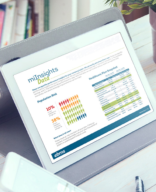 EBMS miInsights data analytics healthcare plan snapshot