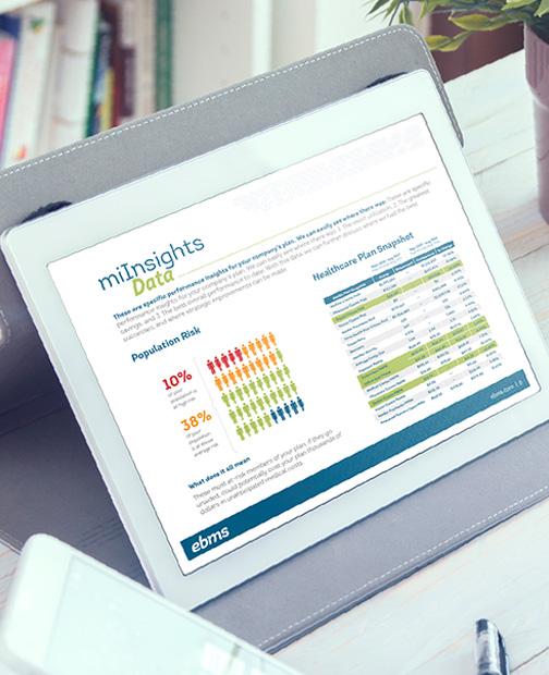 EBMS miInsights data analytics healthcare plan snapshot